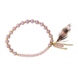 Zigi - Elastiek Armband (Lila)