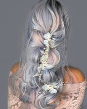 Marie Antoinette of France - Ribbon Hair Vine (Rose Gold)