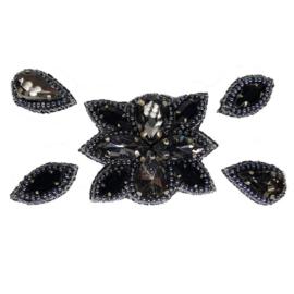 Naomi- Bandless, Clipless Jewels ( Set of 5 ) - Black