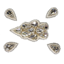 Naomi- Bandless, Clipless Jewels ( Set of 5 ) - Silver