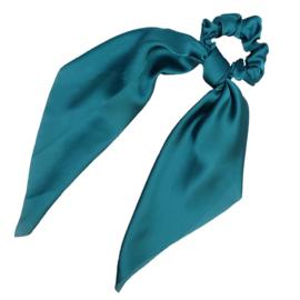 Sweet Sixteen - Long Tail Silk Scrunchie (Teal)