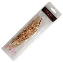 Flat Metal Bobby Pins in Storage Case - 40pc Pack (Gold)