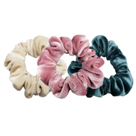 Luxe Velvet Scrunchie 3-Pack (Cotton Candy)