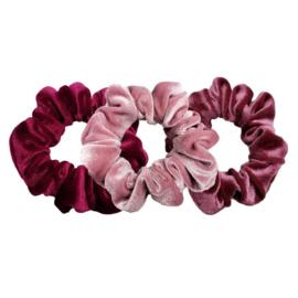 Luxe Velvet Scrunchie 3-Pack (Cherry  Berry)