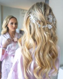 Marie Antoinette of France - Ribbon Hair Vine (Silver)