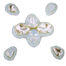Naomi- Bandless, Clipless Jewels  (Set of 5 ) - Iridescent Mint