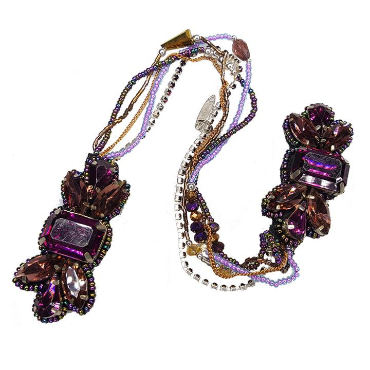 Brigitte - Bandless, Clipless Jewels - Purple