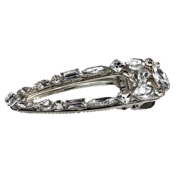 Dazzle - Metal Hair Clip (Silver Crystal)