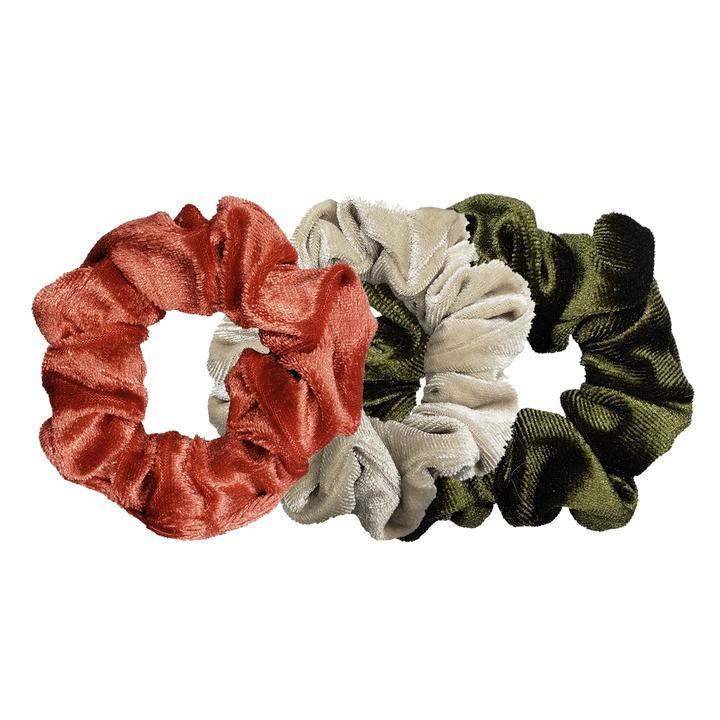 Luxe Velvet Scrunchie 3-Pack (Peachy Pistachio)