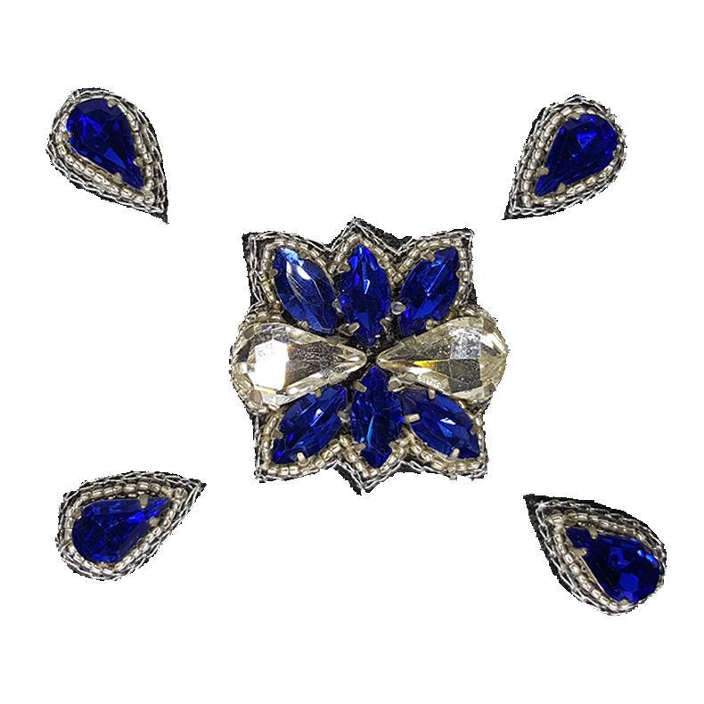 Naomi- Bandless, Clipless Jewels (Set of 5) - Royal Blue