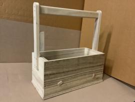 gereedschapskist met lade luxe van hout