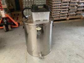 RVS stoomwassmelter voor 18 ramen compleet