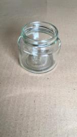 ronde pot  108 ml (150 gram) verpakt per 24 met deksel toc 53