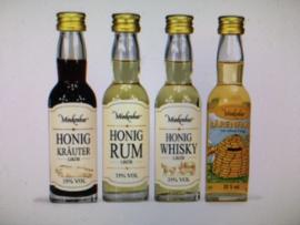 Set 4 mini flesjes honinglikeur
