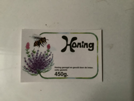 Etiketten met Lavendelbloem 450 gram