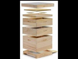 12-er Dadant US houten kast 1x BK en 2 x HK
