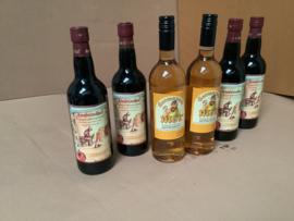 4 Ambrosius honing kruidenwijn 0,75 lt rood + 2 Met