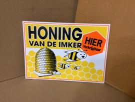 """reclamebordje: """"Honing van de Imker"""" 93130"""