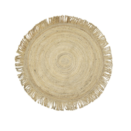 Jute tapijt naturel 120 cm