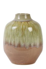 Vaas keramiek oud roze-olijf groen Large