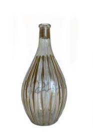 Glazen vaasje met gouden detail medium