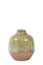 Vaas keramiek oud roze-olijf groen Small