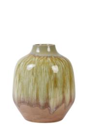 Vaas keramiek oud roze-olijf groen Medium