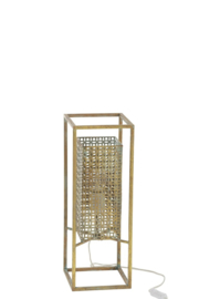 Tafellamp Goud antiek 18x18x50
