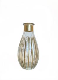 Glazen vaasje met gouden detail small
