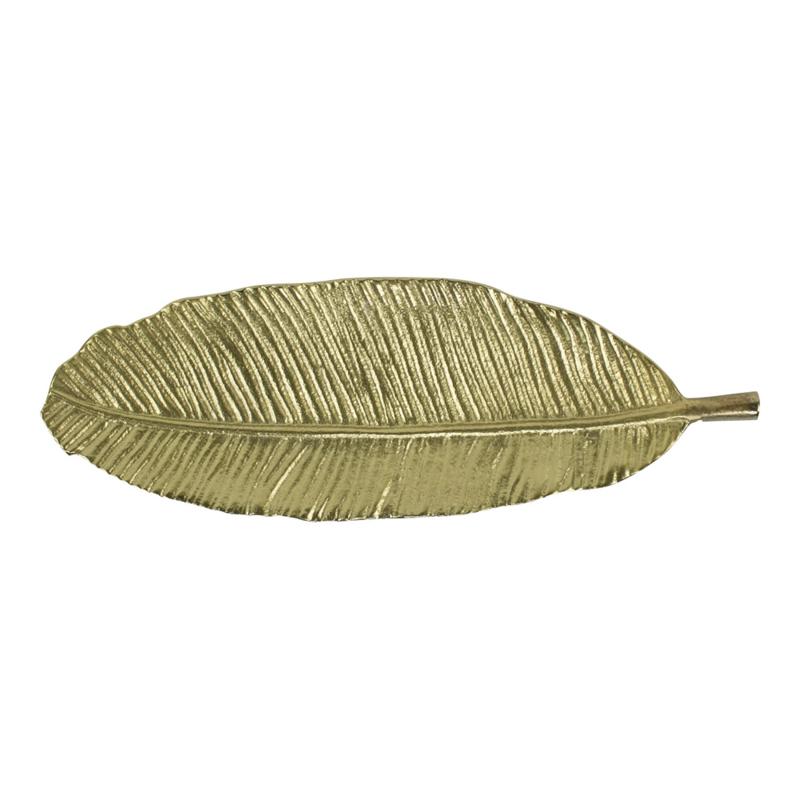 Gouden blad schaal
