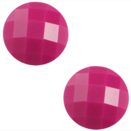 Basic Cabochon - 10mm - Acryl - Fuchsia Rose - 5 stuks