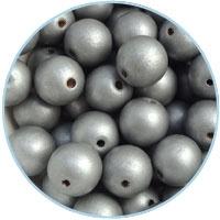 DQ Houten kralen 6mm - Zilver - 30 stuks