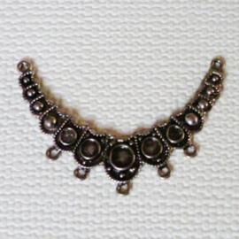 Ornament tussenstuk voor 5 draden 65mm - oud zilverkleur