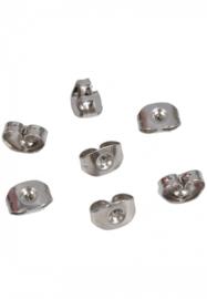 Roestvrij staal Oorbel achterkantje, dopje, stud, stopper - 1 paar