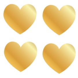 Sluitstickers Goudkleur Hartje  - 2.5cm - 10 stuks