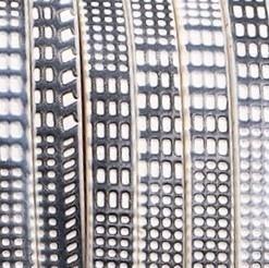 Plat Imitatie leerkoord - 5x2mm - Zwart-Wit Blokjespatroon - 20cm