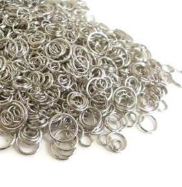 Metaal montagering mix rond - zilverkleur -  8 - 20mm