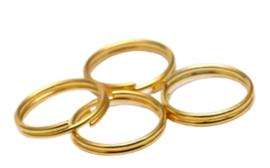 Metalen Sleutelhangerring / Splitring - Goudkleur - 25mm