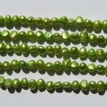 Zoetwaterparel 5-8mm Groen - 5 stuks