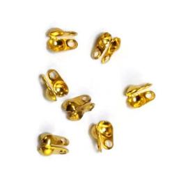 Kalot voor ballchain van 3mm - goudkleur  Metaal  - ca 25 stuks