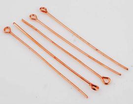 Metaal Kettelstift – Rosé goudkleur - 30 of 50mm