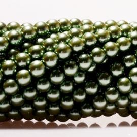 Glasparels Olijf Groen - 8mm