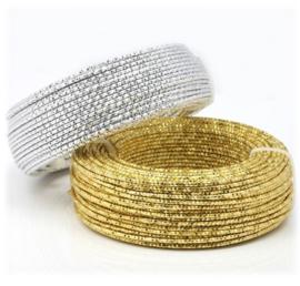 Zacht aluminium draad met patroon in goud of zilverkleur - 2mmx5meter