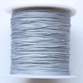 Zilverkleur Macrame Draad 0.5mm - per 10 meter