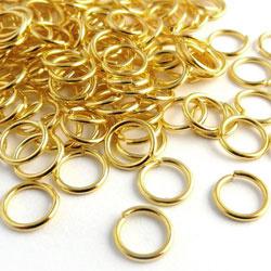 Metaal montage ringetjes rond - goudkleur