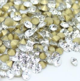 Glas kristal similisteen -  rond facet geslepen - swarovski helder kristal