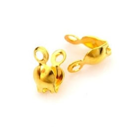 Kalot met oogje  goudkleur - Metaal - ±7x3mm - 20 stuks