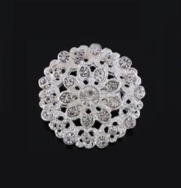 Broche speld met heldere kristalsteentjes - ca3cm - div varianten