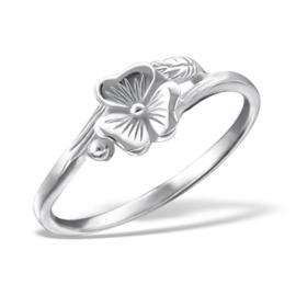 Zilveren Ring Bloem - 925 sterling zilver