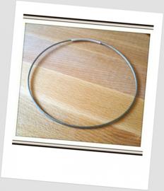 Rvs Spang - Choker met zilverkleur Buis-sluiting